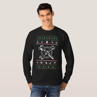 Camiseta Natal feio da camisola do mecânico