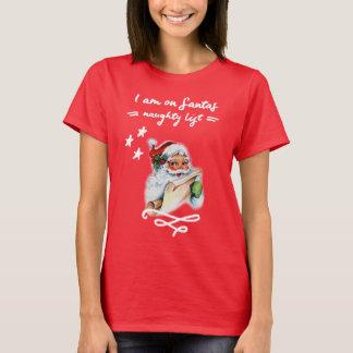 Camiseta Natal, lista impertinente de Papai Noel