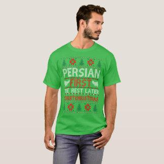 Camiseta Natal mais atrasado do resto do persa camisola