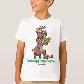 Camiseta Natal: O verde cheirou a rena
