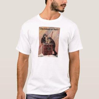 Camiseta Natal ou busto, foto da antiguidade da varredura