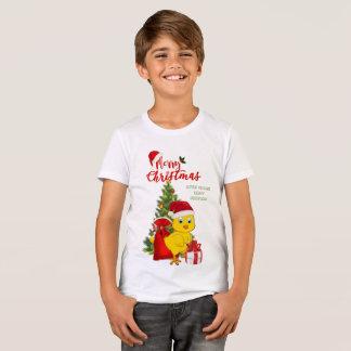 Camiseta Natal pequeno da galinha do bebê