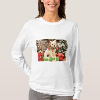 Camiseta Natal - Pomeranian - Abby
