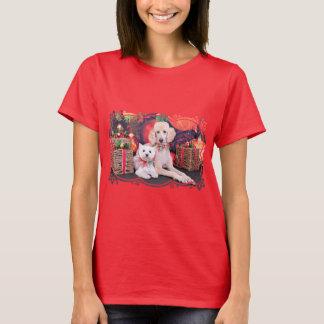 Camiseta Natal - Westie JoHannah - caniche Winston