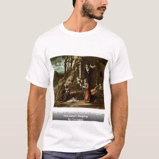 Camiseta Natividade com St. Elizabeth e John The Baptist