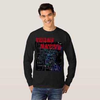 Camiseta Nativo de Las Vegas com mapa da cidade