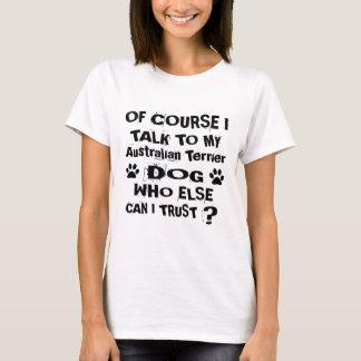 Camiseta Naturalmente eu falo a meu cão Desi de Terrier