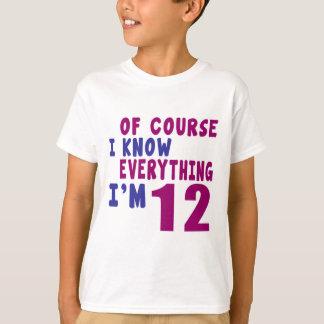 Camiseta Naturalmente eu sei que tudo eu sou 12