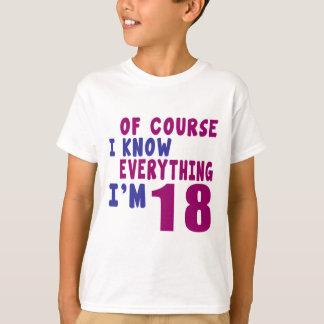 Camiseta Naturalmente eu sei que tudo eu sou 18