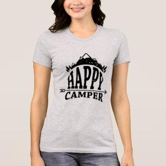 Camiseta Natureza da natureza do campista feliz de Boho do