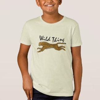 Camiseta Natureza dos miúdos no presente selvagem do animal