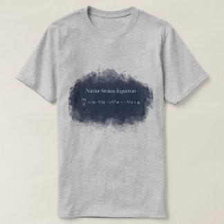 Camiseta Navier Stokes o t-shirt da matemática & da ciência