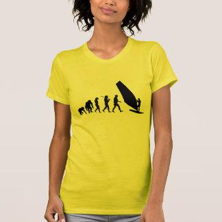 Camiseta Navigação do sailboard dos esportes das mulheres