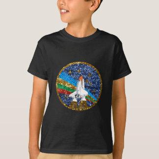 Camiseta navio de espaço do sequin
