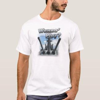 Camiseta Navio de guerra - queira jogar?