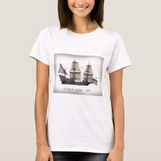 Camiseta Navio de Hinde do ouro 1578