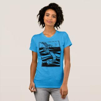 Camiseta Navio de naufrágio do calamar