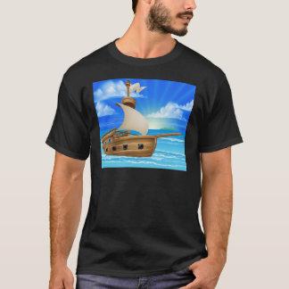 Camiseta Navio de navigação dos desenhos animados