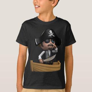 Camiseta navio de pirata 3d (toda a cor U gosta!)