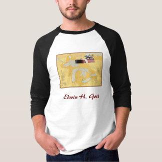 Camiseta Navio dos grandes lagos de Edwin H. Gott na carta