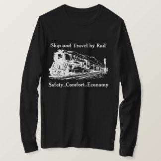 Camiseta Navio e viagem do vintage pelo trilho