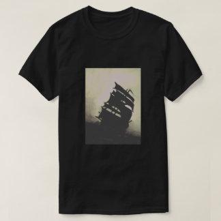 Camiseta Navios pintados à mão da tempestade da pérola