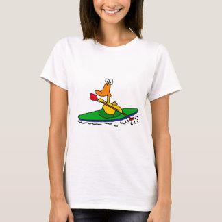 Camiseta NC pato Kayaking engraçado