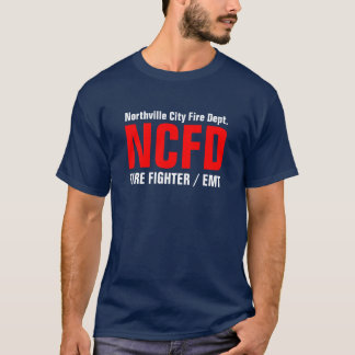 Camiseta NCFD, BOMBEIRO/EMT, fogo da cidade de Northville…