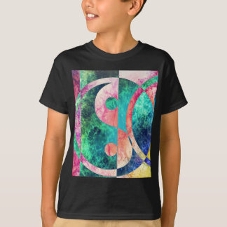 Camiseta Nebulosa abstrata de Yin Yang
