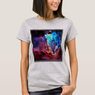 Camiseta Nebulosa composta da estrela da cor imponente