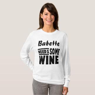Camiseta necessidade feita sob encomenda algum vinho