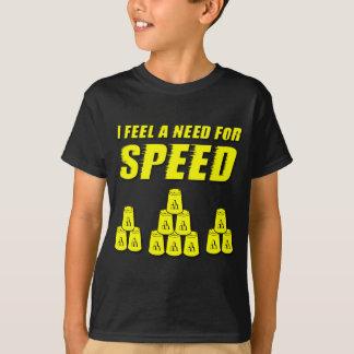 Camiseta Necessidade para a velocidade, amarela