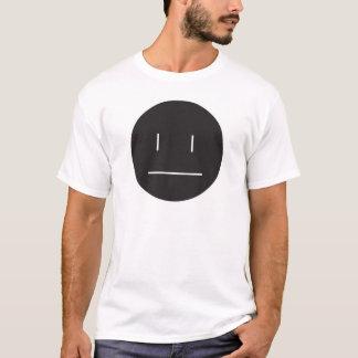 Camiseta negativo indiferente da cara