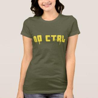 Camiseta NENHUM CTRL - amarelo no verde do exército