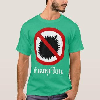 Camiseta NENHUM ⚠ do sinal do roteiro da língua tailandesa