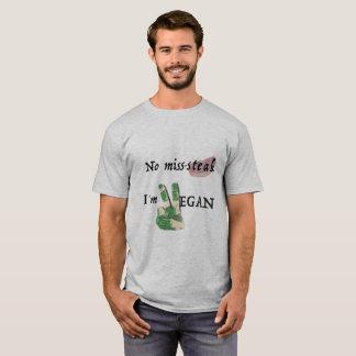 Camiseta Nenhum falta-bife, eu sou Vegan