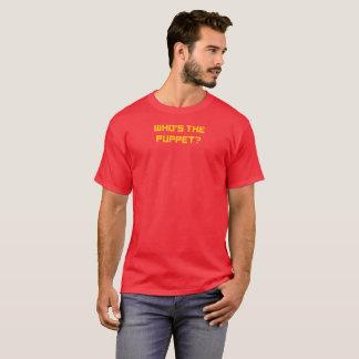 Camiseta NENHUM FANTOCHE! - Quem é o fantoche? O t-shirt