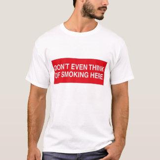 Camiseta Nenhum fumo