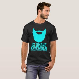 Camiseta Nenhum Shave novembro DE VOLTA à MASCULINIDADE.