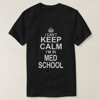 Camiseta Nenhum t-shirt calmo da escola do MED