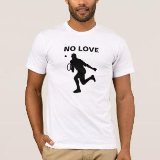 Camiseta Nenhum t-shirt do jogador de ténis do amor