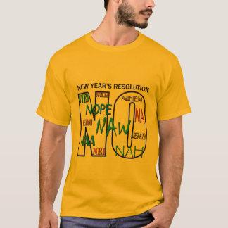 Camiseta Nenhum Tshirt líquido dos homens da definição de