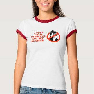 Camiseta NENHUM VOTO de PALIN COM MEU t-shirt do CÉREBRO