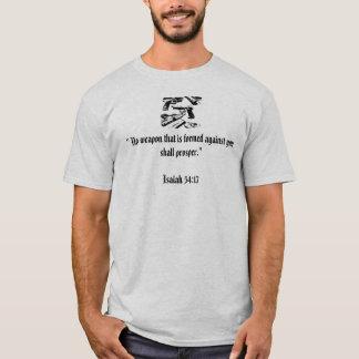 """Camiseta """"Nenhuma arma que é formada contra você…"""