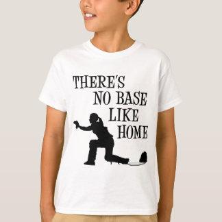 Camiseta Nenhuma base gosta em casa, preto