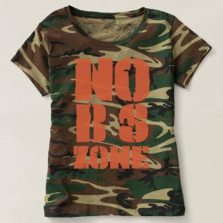 Camiseta Nenhuma BS divide o t-shirt da camuflagem da