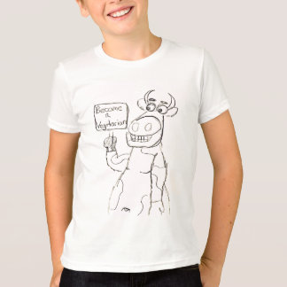 Camiseta NENHUMA BULL!  Rocha dos vegetarianos!