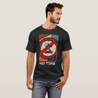 Camiseta Nenhuma hora - preto - partes do tempo