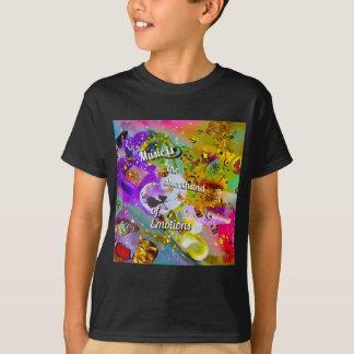 Camiseta Nenhuma necessidade de falar entre notas musicais