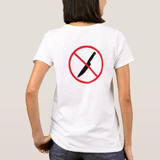 Camiseta Nenhuma parte traseira que Stabbing